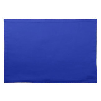 Royal Blue Background on a Placemat