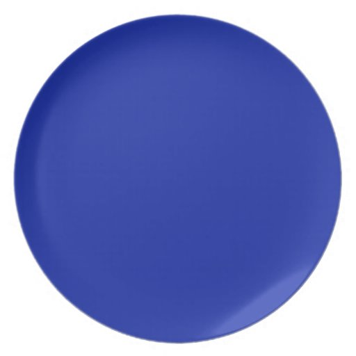 Royal Blue Background on a Plate