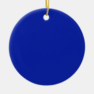 Royal Blue Background on an Ornament