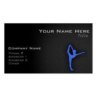 Royal Blue Ballet Dancer Business Cards