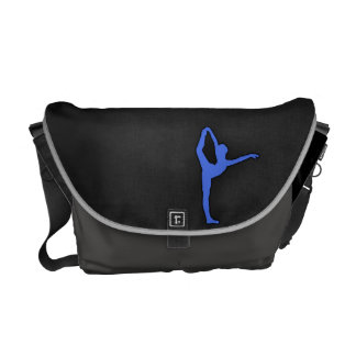 Royal Blue Ballet Dancer Messenger Bag