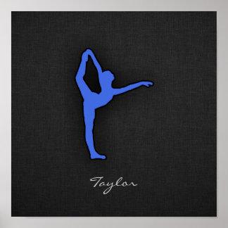 Royal Blue Ballet Dancer Poster
