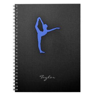 Royal Blue Ballet Dancer Spiral Notebook