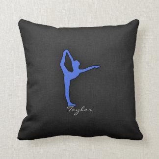 Royal Blue Ballet Dancer Throw Pillow