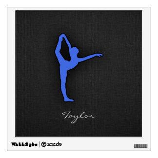 Royal Blue Ballet Dancer Wall Sticker