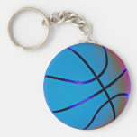 Royal Blue Basket Ball With Slight Brown Keychains