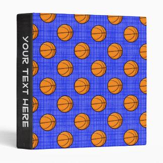 Royal Blue Basketball Pattern Vinyl Binder