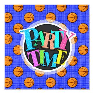 Royal Blue Basketball Pattern Card