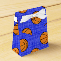 Royal Blue Basketball Pattern Favor Box