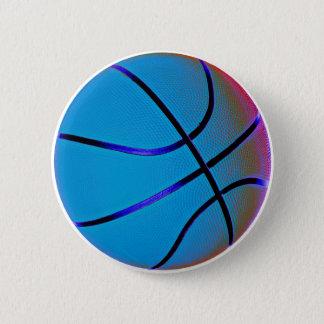 Royal Blue Basketball Pinback Button