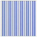 [ Thumbnail: Royal Blue & Beige Colored Striped/Lined Pattern Fabric ]