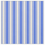 [ Thumbnail: Royal Blue & Beige Lined Pattern Fabric ]