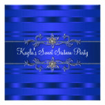 Royal Blue Birthday Party Personalized Invite