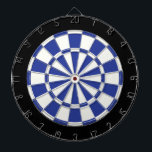 "Royal Blue Black And White Dartboard With Darts<br><div class=""desc"">Royal Blue Black And White Dart Board</div>"