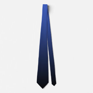 Royal Blue Black Double Sided Ombre Neck Tie
