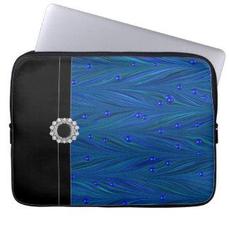 Royal Blue Black Laptop Sleeve