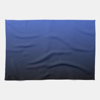 Royal Blue Black Ombre Kitchen Towels