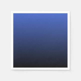 Royal Blue Black Ombre Paper Napkin