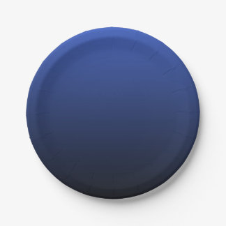 Royal Blue Black Ombre Paper Plate