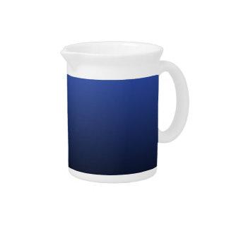 Royal Blue Black Ombre Drink Pitcher