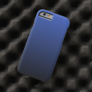 Royal Blue Black Ombre Tough iPhone 6 Case