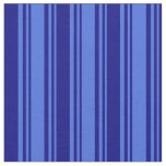 [ Thumbnail: Royal Blue & Blue Colored Lines Fabric ]