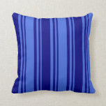 [ Thumbnail: Royal Blue & Blue Colored Lines Throw Pillow ]