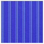 [ Thumbnail: Royal Blue & Blue Colored Stripes Fabric ]
