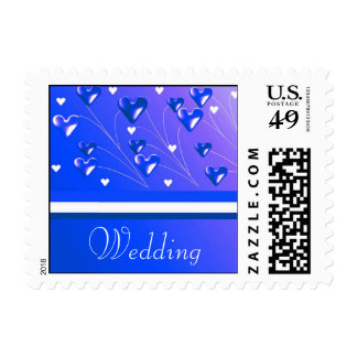 Royal Blue Branches and Stripes Postage