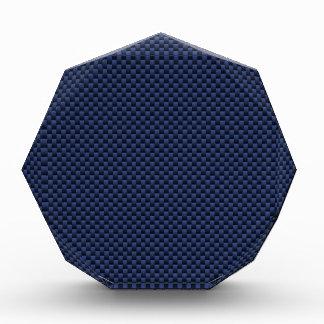 Royal Blue Carbon Fiber Style Weave Print Acrylic Award