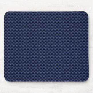 Royal Blue Carbon Fiber Style Weave Print Mouse Pad