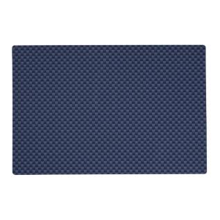 Royal Blue Carbon Fiber Style Weave Print Placemat at Zazzle