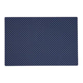 Royal Blue Carbon Fiber Style Weave Print Placemat