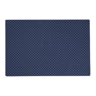 Royal Blue Carbon Fiber Style Weave Print Placemat