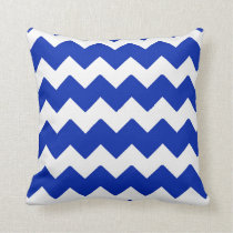 Royal Blue Chevron Pillow