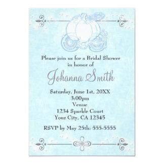"Royal Blue Cinderella Princess Carriage Invitation 5"" X 7"" Invitation Card"