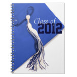 Royal Blue Class of 2012 Cap and Tassel Notebook