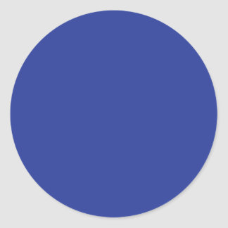 Royal Blue Classic Round Sticker