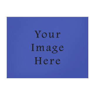 Royal Blue Color Trend Blank Template Canvas Print