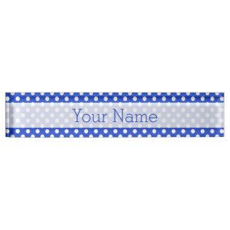 Royal Blue Combination Polka Dots Nameplates