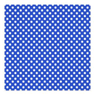 Royal Blue Combination Polka Dots Photo Print