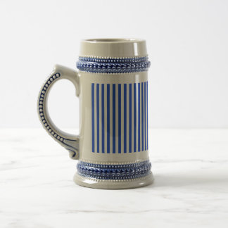 Royal Blue Combination Stripes Beer Stein