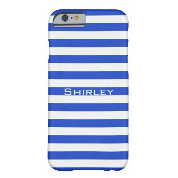Royal Blue Combination Stripes by Shirley Taylor Barely There iPhone 6 Case