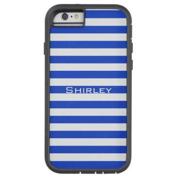 Royal Blue Combination Stripes by Shirley Taylor Tough Xtreme iPhone 6 Case