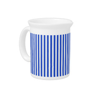 Royal Blue Combination Stripes by Shirley Taylor Pitcher