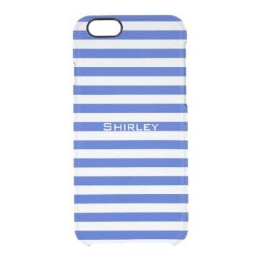 Royal Blue Combination Stripes by Shirley Taylor Clear iPhone 6/6S Case