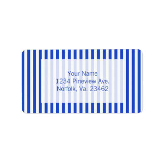 Royal Blue Combination Stripes Label