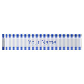 Royal Blue Combination Stripes Desk Name Plates