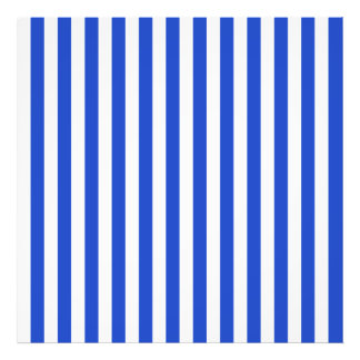 Royal Blue Combination Stripes Photo Print