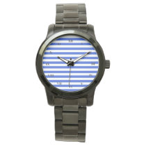 Royal Blue Combination Stripes Wrist Watch
